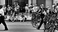 Keep Families Together Rally and March - Chicago (Final) (draketoulouse) Tags: chicago loop protest people trump family street streetphotography city urban cpd bw blackandwhite monochrome