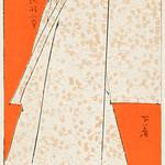 Japanese robe illustration from Bijutsu Sekai (1893-1896) by Watanabe Seitei, a prominent Kacho-ga artist. Digitally enhanced from our own original edition. thumbnail