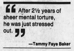Tammy Faye Baker / Tammy Faye Bakker (The Mandela Effect Database) Tags: tammy faye baker bakker mandela mandala mandelaeffect residual research residue proof print news newspaperscom newspapers