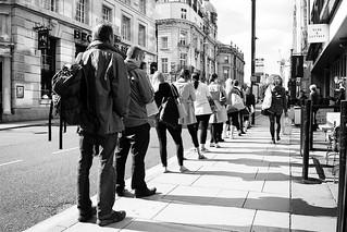 Leeds people' shadows.
