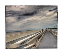 Catwalk (GR167) Tags: street iphoneography bridge floridakeys 6x7 iphone desaturated
