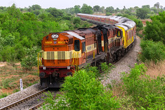 First run of 17020 with PA #offlink Twins (cyberdoctorind) Tags: ifttt 500px indian railways locomotives stations yards running ops alco wdg3a pune diesel loco shed kucharam telangana india
