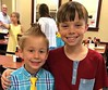 Great-nephew and grandson at restaurant (Martin LaBar (going on hiatus)) Tags: southcarolina pickenscounty boys children posing pals friends cousins face hair smile smiles