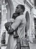 P1180952 (Francesco Pala) Tags: bw monochrome street candid love son father