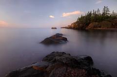 First Step (karenhunnicutt) Tags: northshore lakesuperior morning sunrise longexposure karenhunicuttphotographycom
