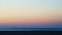 Over the Ribble Estuary to Blackpool (nickcoates74) Tags: 55210mm a6300 beach blackpool coast e55210mmf4563oss estuary evening ilce6300 lancashire ribble seaside sefton sel55210 sony southport summer sunset uk blackpooltower