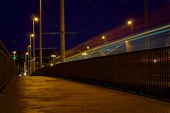 Friedensbrücke (moritzsee) Tags: würzburg bayern bavaria oberfranken franken franconia brücke lights longexposure lagzeitbelichtung canon canoneos1100d strasenbahn train