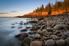 Boulder Beach Sunrise (Mike Ver Sprill - Milky Way Mike) Tags: boulder beach sunrise sunset dawn long exposure smooth water ocean shoreline coastline rocks rocky acadia national park maine travel landscape seascape