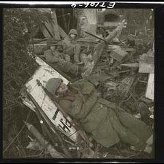 Stepping out of time soldiers resting (rob.vndnB) Tags: library congress colorization colorized photo frissell toni photogragh photographs picture public old rvndnb archives border looking light nitrate negatives image print year 19391945 united states siegfried line rhone valley german front