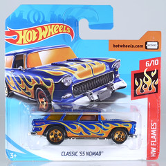HOT-2018-146-Nomad (adrianz toyz) Tags: hot wheels diecast toy model car chevy chevrolet 1955 55 nomad station wagon estate 2018 146 flames adrianztoyz