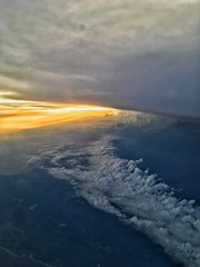 Sunset between the layers of cloud, 37,000 feet. (thebillster) Tags: 37000feet seaboard eastern usa sunset weather clouds ipadphotography