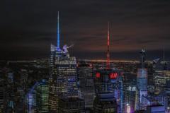 H&M (karinavera) Tags: city longexposure night photography cityscape urban ilcea7m2 sunset nyc architecture timesquare newyork manhattan timessquare