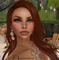 The new me (yes, again) (cejalaval) Tags: secondlife sl slphotography style fashion firestorm freckles redhead greeneyes laq avatar argrace portrait headshot ikon 7deadlyskins tattoo