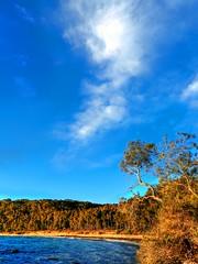 Winter wonderland IX (elphweb) Tags: hdr highdynamicrange nsw australia beach sand water ocean waves bay shore shoreline cove sky skies