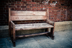 Weathered (rg69olds) Tags: 06162018 35mm 5dmk4 canoneos5dmarkiv kenko nebraska sigma35mmf14artdghsm canon downtown oldmarket omaha sigma weathered bench wood wooden sidewalk 35mmf14dghsm|a