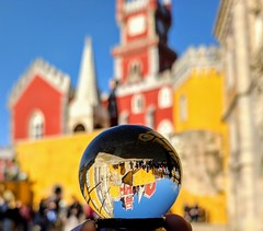 Palacio de Pena in a crystal ball @ Sintra - Portugal (Made Bulkes) Tags: palacio palaciodapena pena sintra portugal palace colores colorido colourful colorful crystalball crystal ball bola de cristal bolacristal inaball lisboa lisbon
