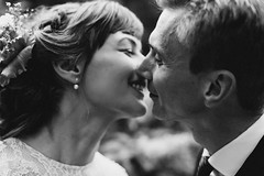 v&r wedding in potsdam (Yuliya Bahr) Tags: kiss love küss kissing hug two together wedding happy happiness girl woman men man portrait magic bride groom dof bokeh grain eyesclosed vintage couple
