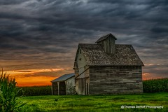 Classical corn crib (Thomas DeHoff) Tags: corn crib illinois sunset hdr farm rural sony a77 ii