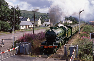 K4 3442 at Corpach L.C. Jul'89.