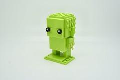 LEGO Monochrome BrickHeadz in Lime (Pasq67) Tags: lego monochrome afol toy toys flickr legography pasq67 brickheadz france 2018 lime brightyellowishgreen bright yellowish green