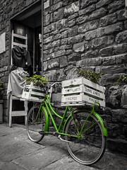 Bicicletta verde (Felipe G.Fuertes) Tags: florencia florence firenze italy italia cutout bicicleta bike verde green