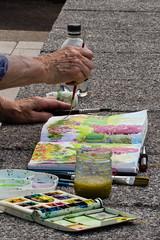 A Box Full of Colours (PedroLanders) Tags: rosemoor rhs garden painting watercolour devon greattorrington hands paintbox