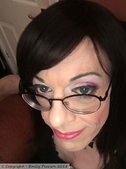 June 2018 (Girly Emily) Tags: crossdresser cd tv tvchix tranny trans transvestite transsexual tgirl tgirls convincing feminine girly cute pretty sexy transgender boytogirl mtf maletofemale xdresser gurl glasses dress indoor closeup
