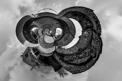 Klösterli Rüegisberg S/W 360 Planet (Bugtris) Tags: 815f4l 360gradpano fisheye klösterli 5dmkiii canon rüeggisberg perspective hdr
