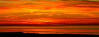 Sonnenuntergang  über dem Watt bei Cuxhaven-Sahlenburg