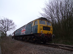 47580 on the rear of the Mayflower tour 15-04-18 (APB Photography™) Tags: mayflower charity railtour class47 47580 saxmundham