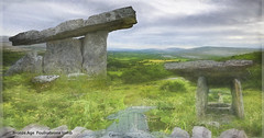 Irish old history: Bronze age Tomb (Flight of life) Tags: poulnabrone is type portal tomb with stones entrance rectangular stonelined chamber covered single stone buried 42002900 bc bronze newborn baby portico tombs rituals ceremonies