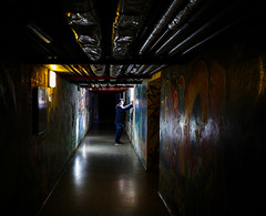 Let The Sunshine In (CoolMcFlash) Tags: person man lowlight cellar canon eos 60d underground tube gangway mann dark dunkel keller durchgang fotografie photography sigma 1020mm 35 graffiti