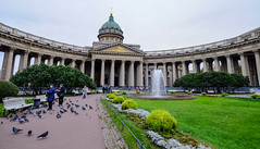 Kazan Cathedral in Saint Petersburg, Russia (phuong.sg@gmail.com) Tags: architecture attraction building cathedral christian christianity church city classicism cloud colonnade column cross day dome europe facade famous god historic historical house icon kazan lady landmark landscape monument nature old orthodox orthodoxy outdoor palace petersburg religion russia russian saint sight sky st statue temple travel view