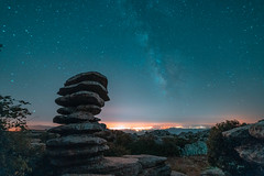 Monumento natural el Tornillo del Torcal (Fran Santiago) Tags: malaga andalucia spain photography photo night longexposure landscape art nature cool love monument history park square vacation paisaje holiday flickr colour contrast travel sony samyang14mm