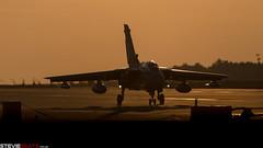 Tornado at Dusk (steviebeats.co.uk) Tags: raf royalairforce tornado gr4 jet marham sunset sky orange dusk