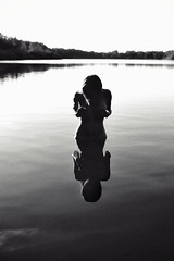 Mirror Lake (okiram72) Tags: lake mirror nude nikon bnw blackandwhite monochrome people woman girl naked sensual