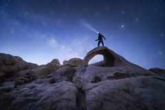 Breaking Light (bryanchong.photo) Tags: breaking light scorpius arch joshua tree national park california nps jtnp milky way stars blue hour sunrise landscape outdoor nature rocks sony a7rii laowa 15mm f2