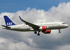 Airbus A320-251N. LN-RGL. SAS SK2615. (Themarcogoon49) Tags: airbus a320 neo aircraft landing gva lsgg cointrin airport planespotting switzerland avgeek sas
