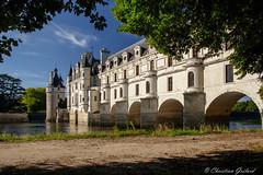 Sun bathing (christian.grelard) Tags: architecture château châteauxdelaloire cher chenonceau history histoire tourism loirevalley patrimoine touraine river rivage travel