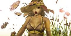 #229 Happiness blooms from within (Saar Whitfield) Tags: livia secondlife avatar virtual 3dgirls cosmetic gacha disorderly moonamore lefilcasse rewind argrace catwa maitreya photography slblog summer cute sl