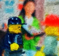 "Photo Series: Lego @work: ""Impression of a crowded room"" (Ken Whytock) Tags: lego crowd impression pintinglike paintinglike talking minifig minifigure"