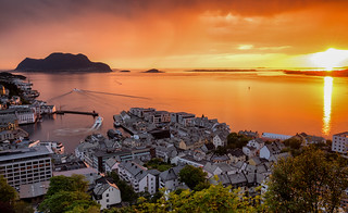 Ålesund sunset @ Norway 2018