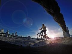 Sunny bike ride (alestaleiro) Tags: sunset coucherdusoleil tramonto controluce contraluz silhouette silueta man biker bici bibicleta perspective city citiscape balneáriocamboriú sc brasil sol sole sunny sun atardecer entardecer ocaso soleada ride biking alestaleiro