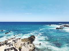 Ocean Dining (dwisdwis) Tags: nature blue elcortezsea colors waves ocean rocks lasventanas mexico cabo