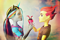 Somewhere over the Rainbow (GothGeekBasterd) Tags: monsterhigh mattel boys pride gay june parade neighthan rot zombie zombiecorn unicorn rainbow heath burns doll dolls couple fire clumsy mansters home ick freaky fusion freak freaks