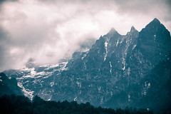Bhutan: Mystery Peaks of Gasa III. (icarium.imagery) Tags: bhutan canoneos5dmarkiv analogefex captureone clouds dramaticsky gasavalley himalayas layers mist moody mountainrange mountains mysterious mystical nature sigma100400mmf563dgoshsm