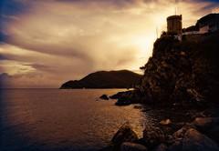 torre d'avvistamento (akabolla) Tags: sunset tramonto torre isoladelba marinadicampo