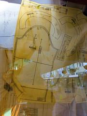 Shopping Patterns (Steve Taylor (Photography)) Tags: regentstreet pattern plan shops bottles diagram butterick fashion paper glass newzealand nz southisland canterbury christchurch cbd city reflection lines
