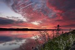 Chaude journée d'été (gaudreaultnormand) Tags: canada leverdesoleil longexposure longueexposition quebec saguenay sunrise ciel arbre pelouse eau