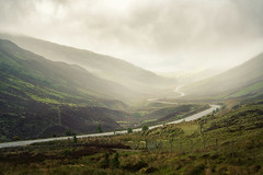 Glen Docherty (Paul C Stokes) Tags: glendocherty glen docherty view viewpoint point scotland scottish highland highlands westerross wester ross north coast 500 northcoast northcoast500 nc nc500 sony sonya7r2 sel70300g 70300mm 70300g winding road awesome landscape misty fog foggy morning early am